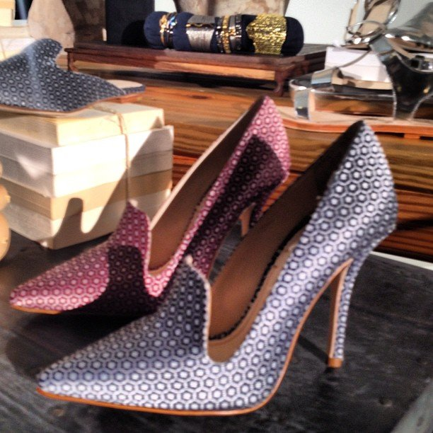 We fell in love with these printed heels from Elizabeth and James.