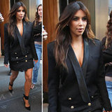 Kim Kardashian showed off a sexy new way to wear a tuxedo blazer.