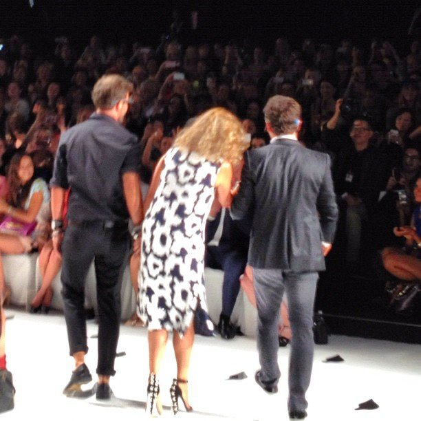 Diane von Furstenberg took a bow. Who knew that it would be creative director Yvan Mispelaere's last for the brand?