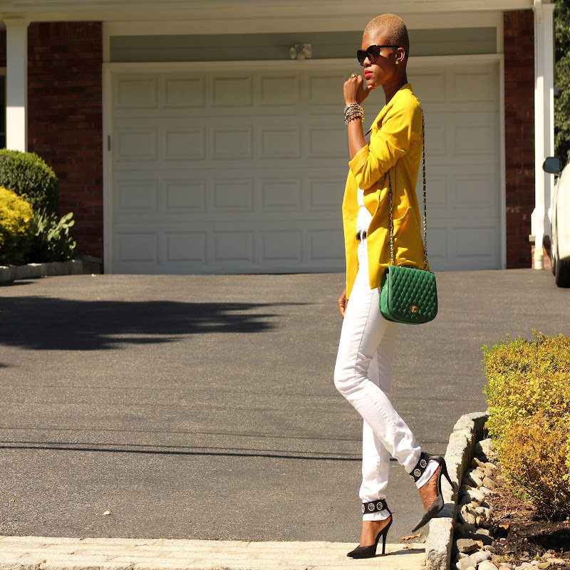Congrats, Dadouchic! Your blazer is the perfect pop of color.