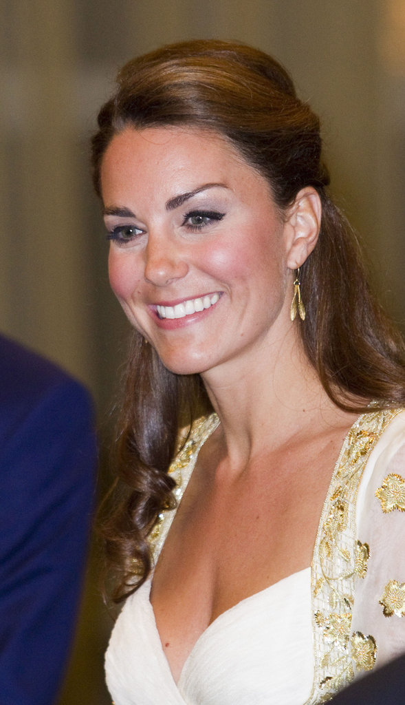 The Duchess wore jewels from her own private collection.