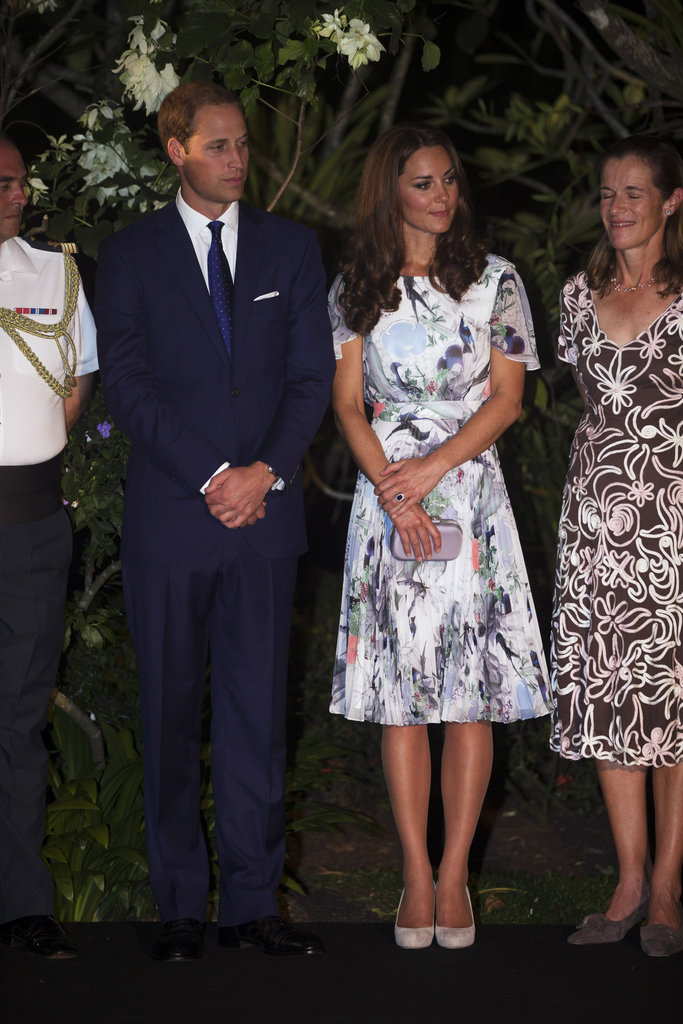 Kate wore her L K Bennett Harper shoes in light beige.