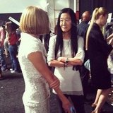 "Stacy Keibler captured a ""true fashion moment"" with Anna Wintour and Vera Wang backstage. Source: Instagram user stacykeibler"
