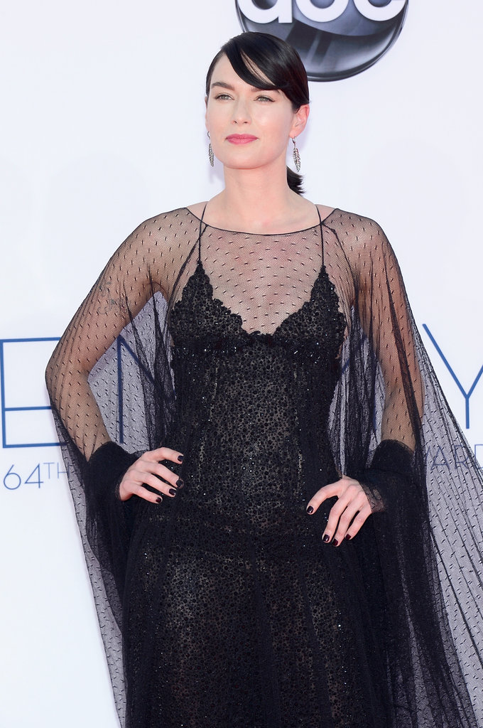 Lena Headey — Cersei Lannister on Game of Thrones — posed at the Emmys.