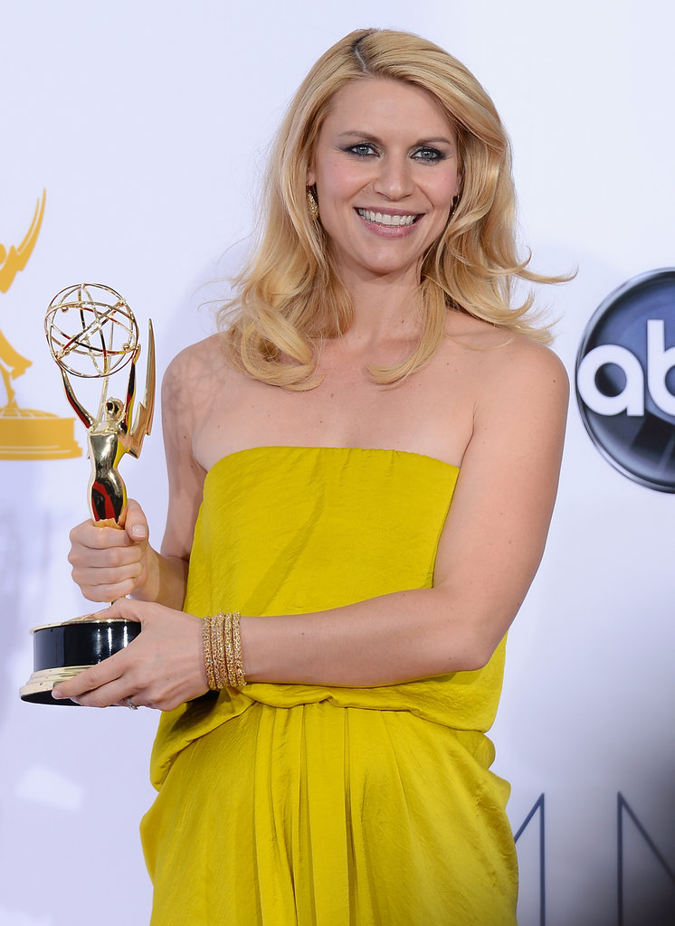 Emmy winner Claire Danes held up the award for her role in Homeland.