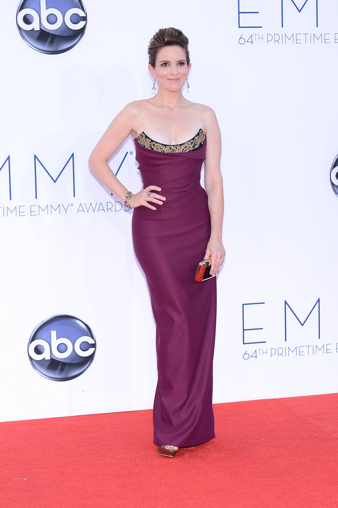 Nominee and presenter Tina Fey looked gorgeous on the red carpet.