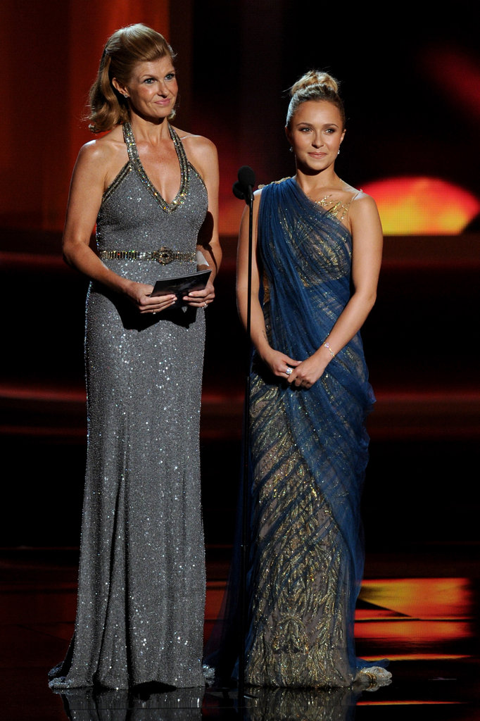 "Nashville costars Connie Britton and Hayden Panettiere ignored a ""passed out"" Tracy Morgan while presenting an award."