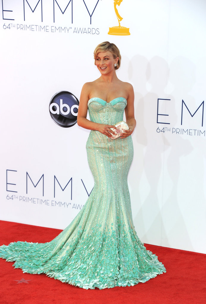 Julianne Hough posed for pictures at the 2012 Emmy Awards.
