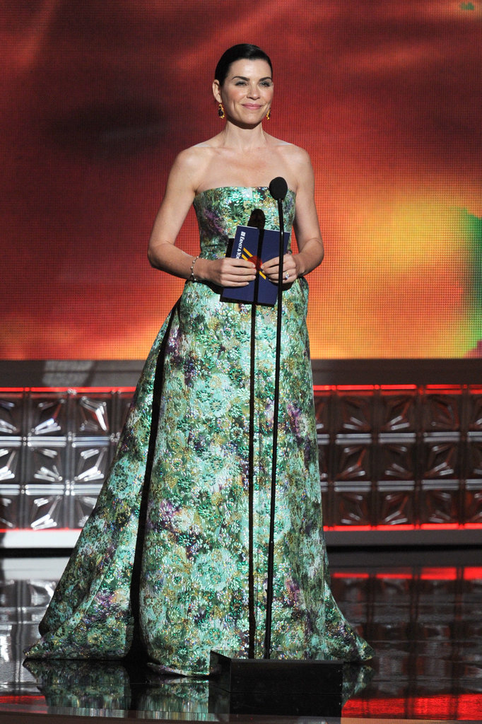 Nominee Julianna Margulies looked gorgeous while presenting an award.