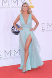 Project Runway host Heidi Klum showed off her supermodel stems on the red carpet.