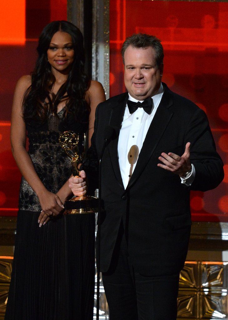 Modern Family's Eric Stonestreet encouraged young actors to never give up during his acceptance speech.