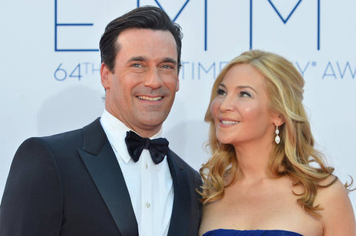 Jon Hamm and Jennifer Westfeldt posed together on the red carpet.