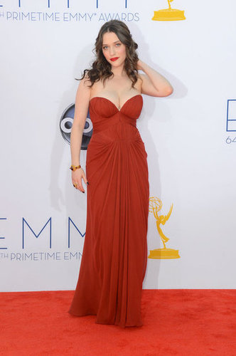Kat Dennings posed on the red carpet.