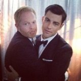 It was love at first sight for funny guys Jesse Tyler Ferguson and Max Greenfield in September. Source: Instagram user jessetyler