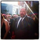 James Gandolfini mingled with the stars on the red carpet.  Source: Instagram user marcmalkin