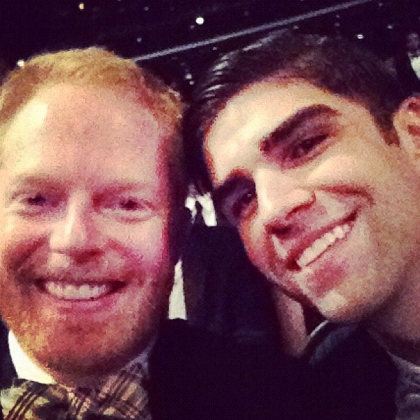 Jesse Tyler Ferguson shared a self-portrait with fiancé Justin Mikita. Source: Instagram user jessetyler