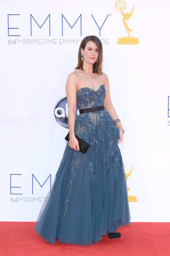 Sarah Paulson stepped out in Reem Acra for the Emmy Awards.