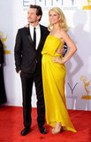 A pregnant Claire Danes walked the red carpet with husband Hugh Dancy at the Emmys.
