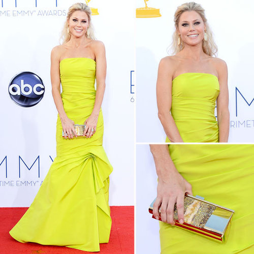 Pictures of Modern Family's Julie Bowen in Lime Monique Lhuiller Resort 2013 gown at the 2012 Emmy Awards
