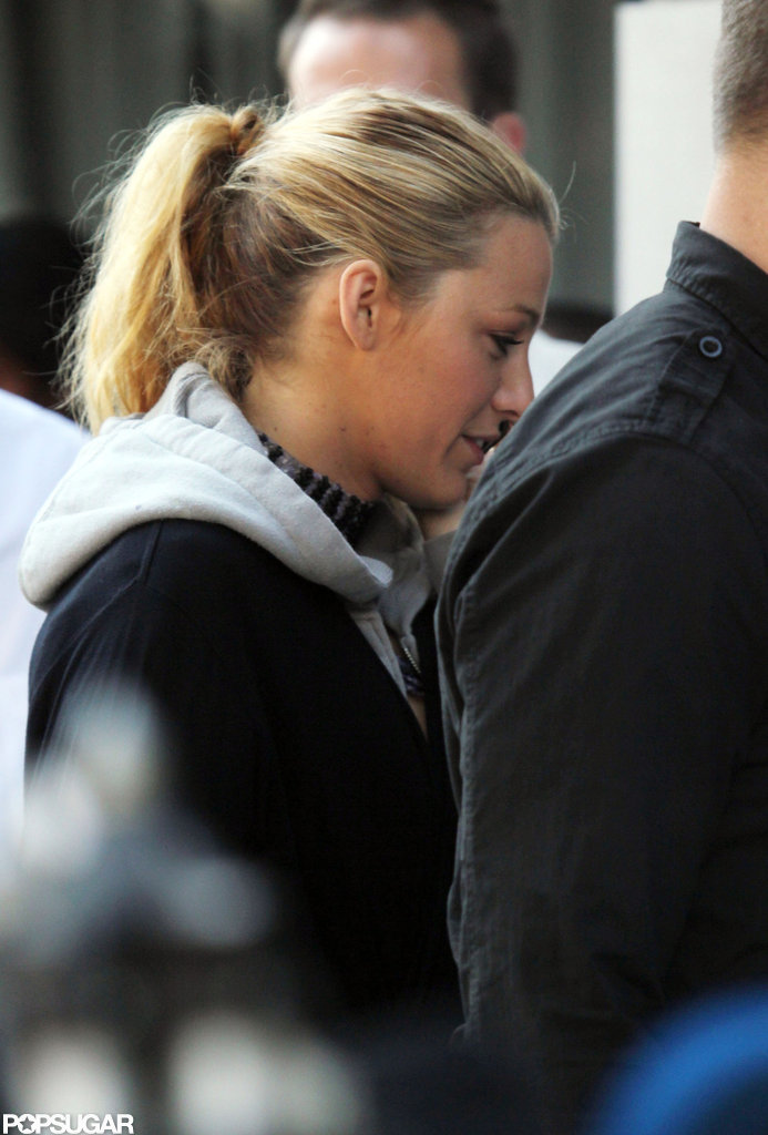 Blake Lively returned to work on Gossip Girl in NYC.