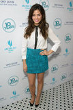 Jenna Dewan wore cute teal skirt.