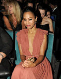 Zoe Saldana took her seat at the ALMA Awards in LA.