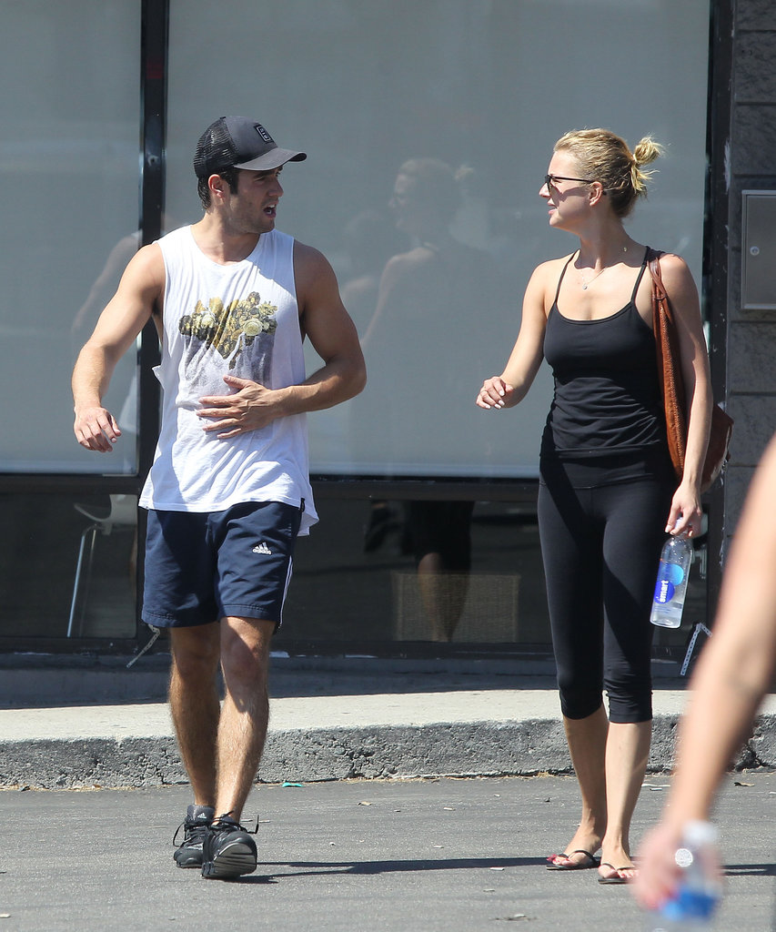 Emily VanCamp and Josh Bowman left the gym side by side.