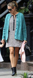 Sarah Jessica Parker layered on a cardigan.