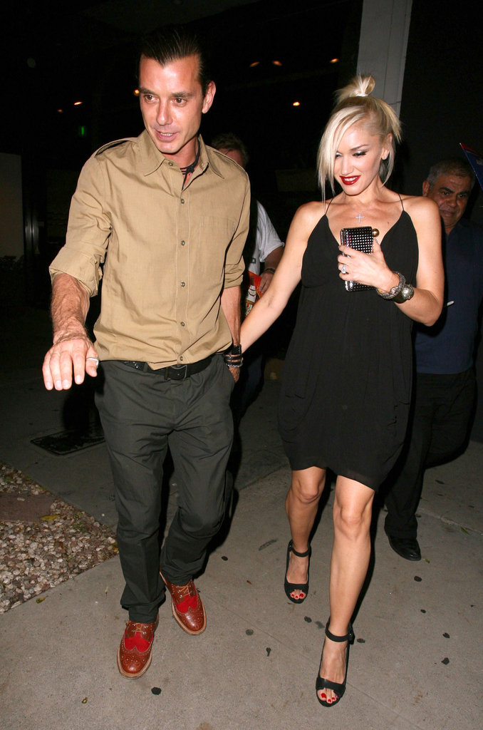 Gwen Stefani and Gavin Rossdale were all smiles leaving dinner.