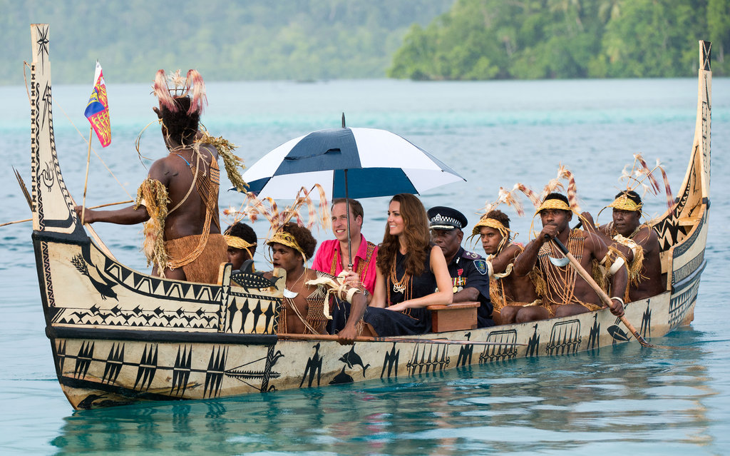 Will and Kate enjoyed a boat ride on day seven of the tour of the Far East.