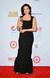 Lana Parrilla accepted an award at the ALMA Awards in LA.