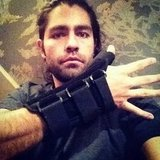Adrian Grenier posed for a photo wearing an arm brace.  Source: Instagram user adriangrenier