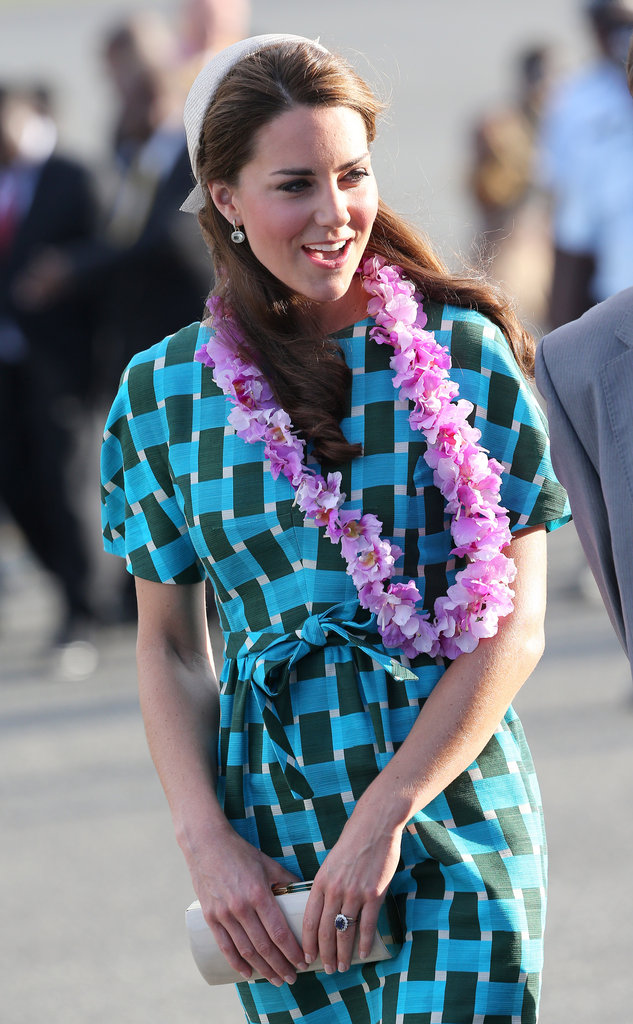 Kate was given pink accessories.