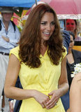 Kate's yellow Jaeger dress.