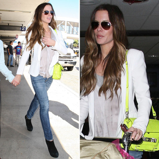 Kate Beckinsale's Neon-Yellow Proenza Schouler