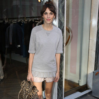 Alexa Chung Carrying Leopard Bag