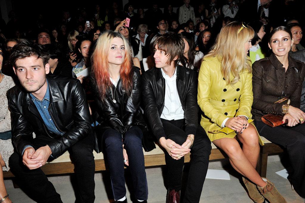 Alison Mosshart, Miles Kane, Suki Waterhouse, and Olivia Palermo attended Burberry.