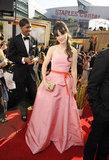 Zooey Deschanel wore pink to the 2011 ceremony.