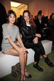Alexa Chung and Rebecca Hall took front-row seats at London Fashion Week's Mulberry show.