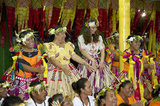 Kate Middleton joined in traditional dances while in Tuvalu.
