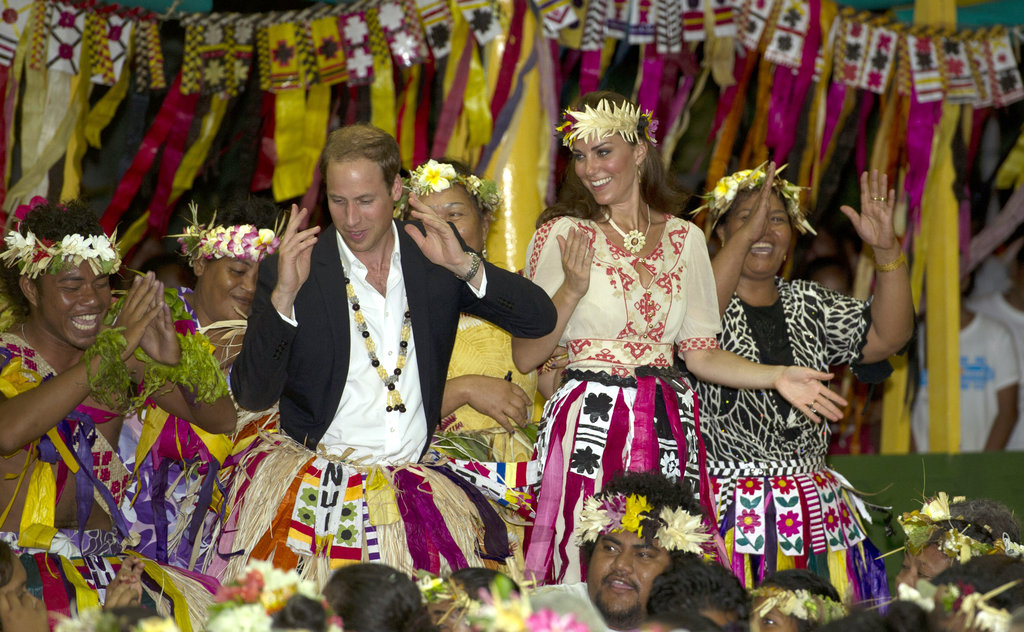 Prince William really got into it.