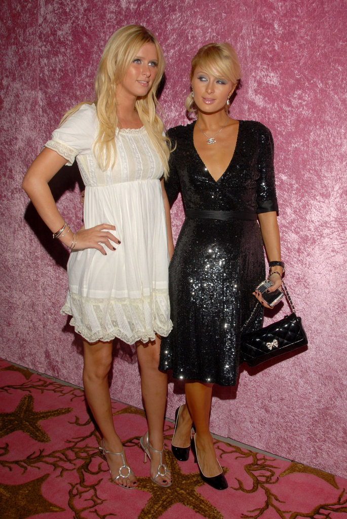 Sisters Nicky Hilton and Paris Hilton attended a postshow party in 2006.