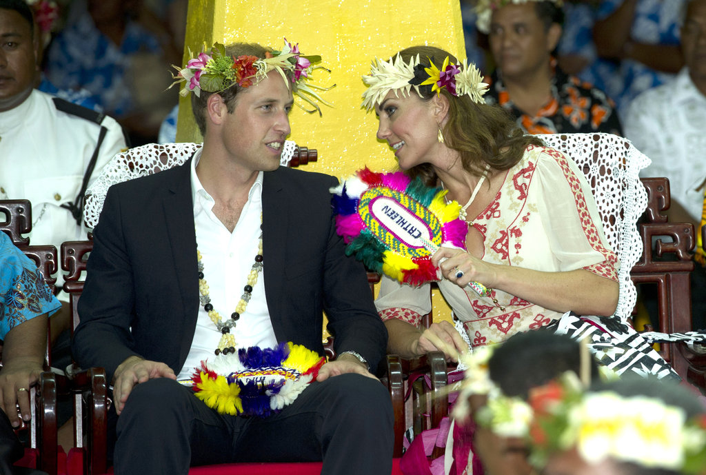 Prince William and Kate shared a private moment.