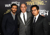 Jake Gyllenhaal and Michael Peña linked up with John Lesher at the LA premiere of End of Watch.