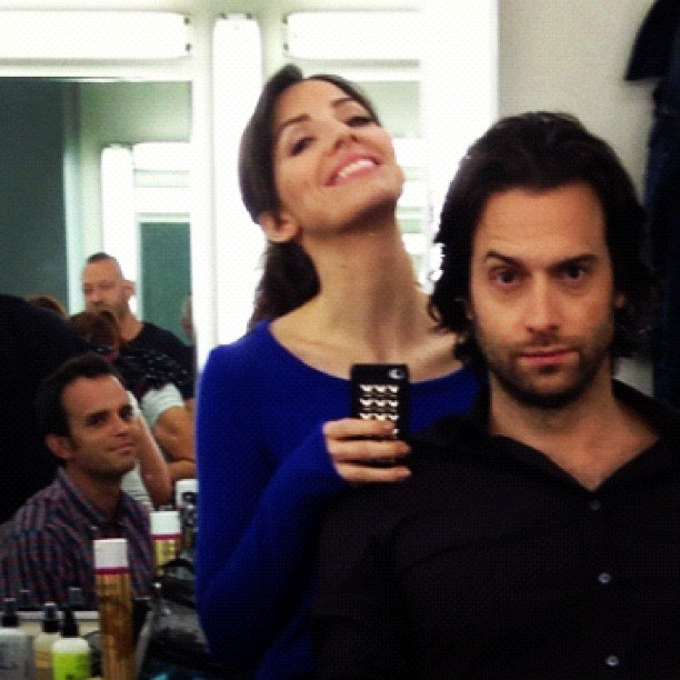Whitney staffers love photobombing Whitney Cummings and Chris Delia. Source: Instagram user chrisdelia