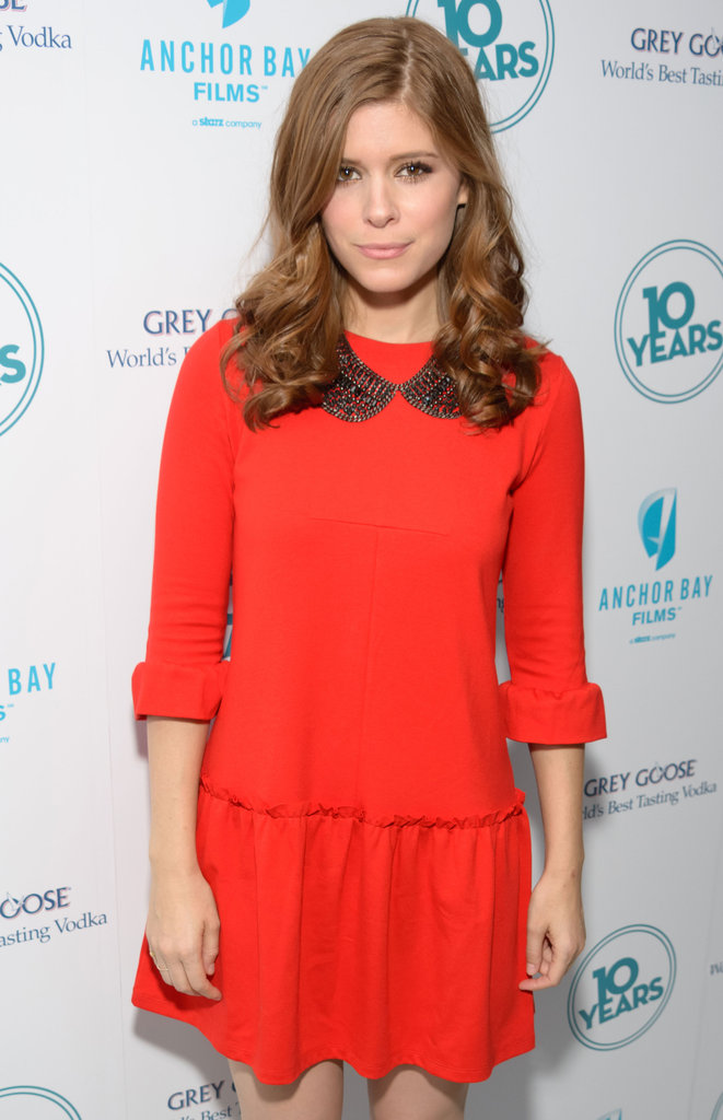 Kate Mara worked a collared statement necklace into her look for glamour with a sweet vibe. 8628097