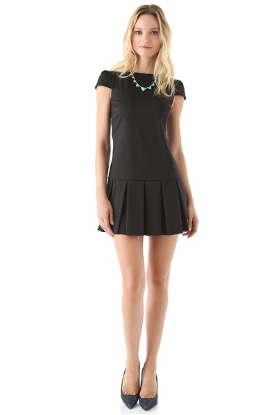 The pleated hemline adds a cool twist on the classic LBD.  Alice and Olivia Demi Drop Waist Skirt ($297)