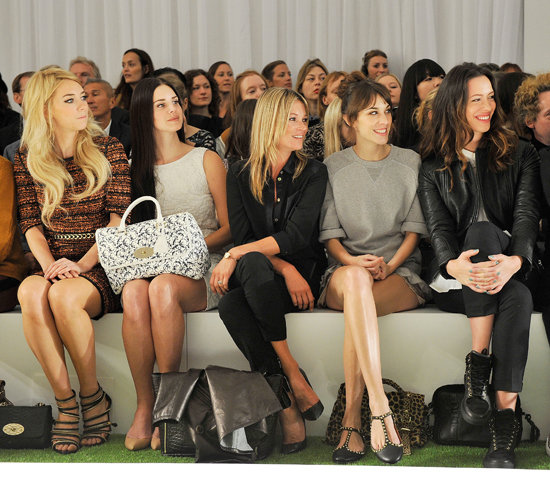 Who Had the Most Covetable Arm Candy on Mulberry Spring 2013 Front Row?
