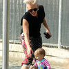 Pink Pictures With Willow and Carey Hart at Hudson River Park in NYC