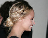 In 2008, Nicole showcased the boho-chic style she's now known for, pairing her twisted bun with rope-like braids and a pretty peach shadow.